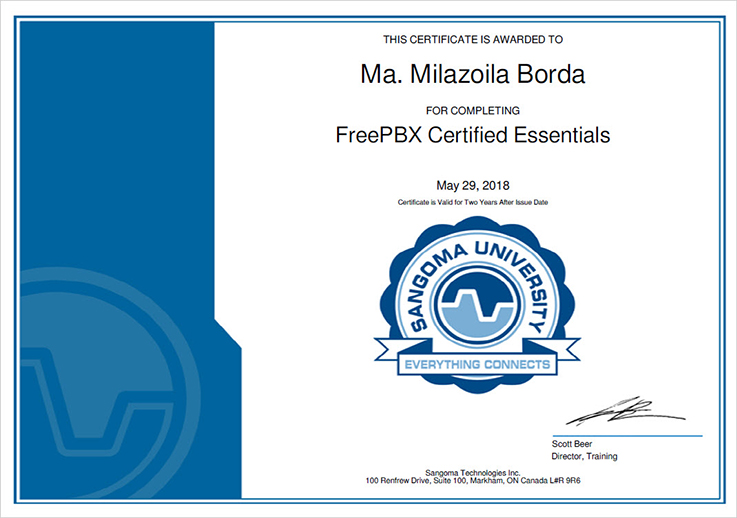 Sangoma FreePBX Certified